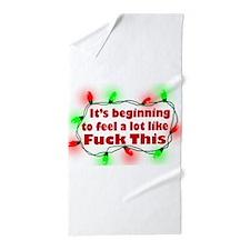 Christmas Beginning Beach Towel