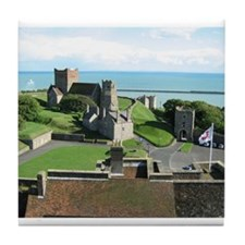 View From the Top of Dover Castle Tile Coaster