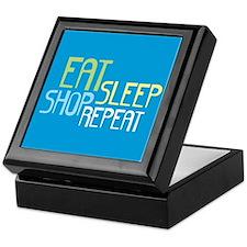 Eat Sleep Shop Repeat Keepsake Box