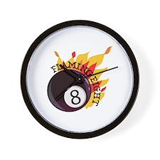 Flaming Eight Wall Clock