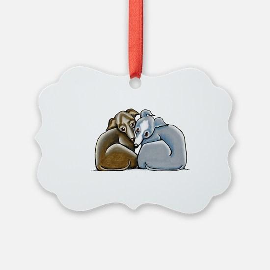 Italian Greyhound Huddle Ornament