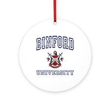 BINFORD University Ornament (Round)