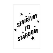 """""""Stairway to Stardom"""" Rectangle Decal"""