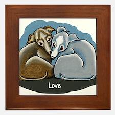 Italian Greyhound Huddle Framed Tile