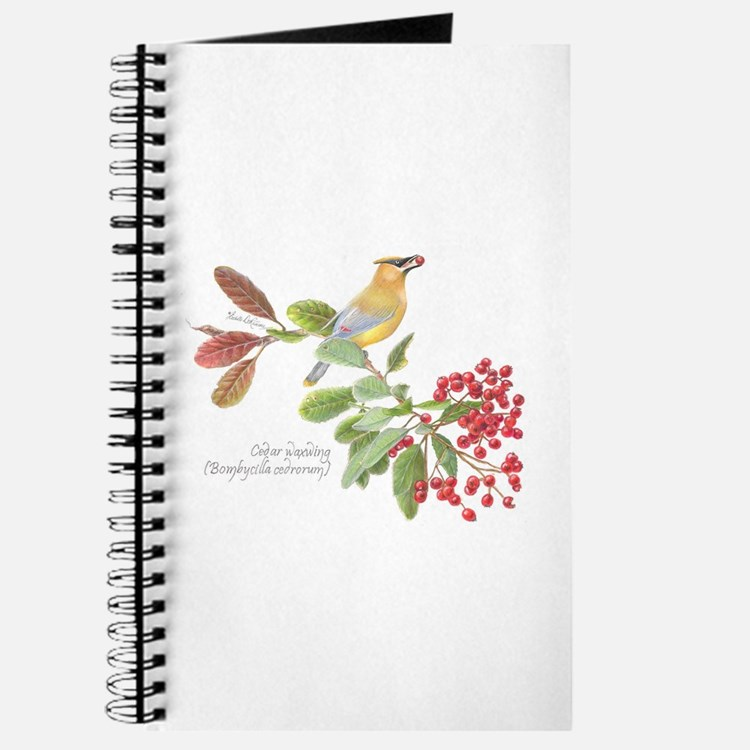 Cedar Waxwing And Berries Journal