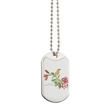 Cedar Waxwing and berries Dog Tags