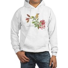 Cedar Waxwing and berries Hoodie