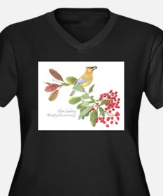 Cedar Waxwing and berries Plus Size T-Shirt