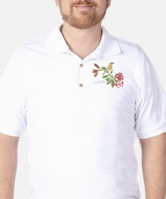 Cedar Waxwing and berries Golf Shirt