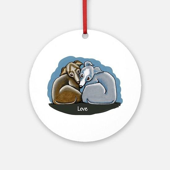 Italian Greyhound Huddle Ornament (Round)
