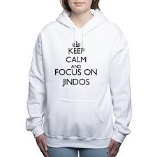Keep calm and focus on J Women's Hooded Sweatshirt