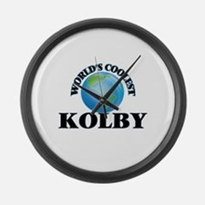 World's Coolest Kolby Large Wall Clock