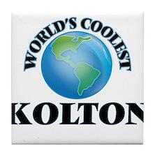 World's Coolest Kolton Tile Coaster