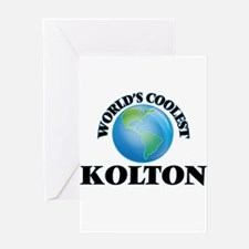 World's Coolest Kolton Greeting Cards