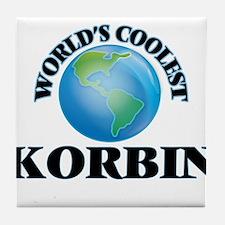World's Coolest Korbin Tile Coaster