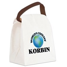 World's Coolest Korbin Canvas Lunch Bag