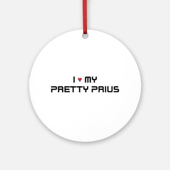 Pretty Prius Ornament (Round)