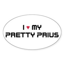 Pretty Prius Oval Decal
