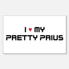Pretty Prius Rectangle Decal