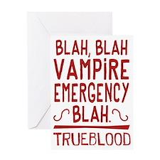 Pam Vampire Emergency True Blood Greeting Cards