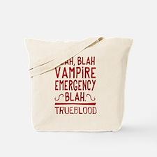 Pam Vampire Emergency True Blood Tote Bag