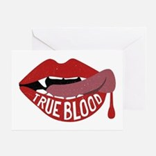 True Blood Vampire Lips Graphic Greeting Cards