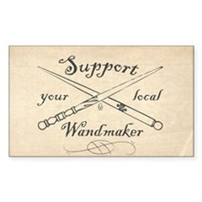 Support Your Local Wandmaker W Bkg Decal