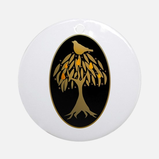 Partridge in a Pear Tree Ornament (Round)