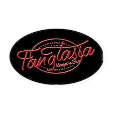Fangtasia True Blood Oval Car Magnet