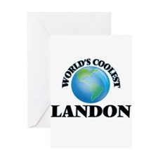 World's Coolest Landon Greeting Cards