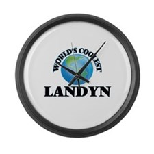 World's Coolest Landyn Large Wall Clock