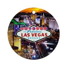 Las Vegas Decorative Ornament (Round)