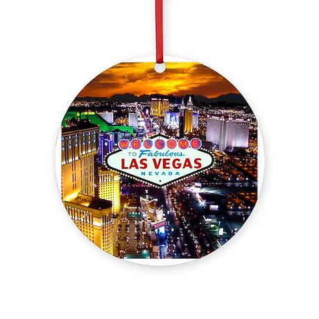 Las Vegas Decorative Ornament (Round)