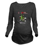 I Love Wine Long Sleeve Maternity T-Shirt