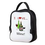 I Love Wine Neoprene Lunch Bag