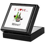 I Love Wine Keepsake Box