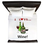 I Love Wine King Duvet