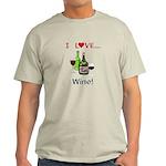 I Love Wine Light T-Shirt