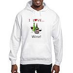 I Love Wine Hooded Sweatshirt