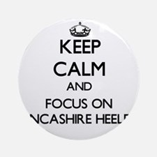 Keep calm and focus on Lancashire Ornament (Round)
