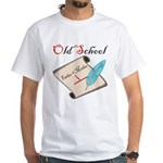 Old School White T-Shirt