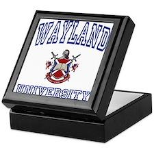 WAYLAND University Keepsake Box