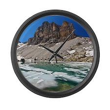 Dolomiti - lake Pisciadu Large Wall Clock