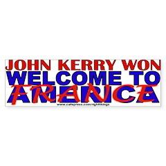 Wlcome to France Anti-John Kerry Bumper Bumper Sticker
