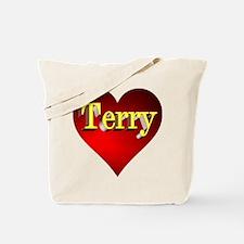 Terry Heart Tote Bag