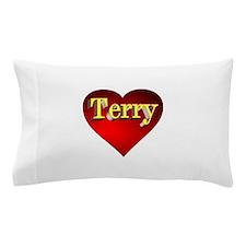 Terry Heart Pillow Case