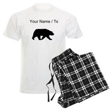 Custom Bear Walking Silhouette Pajamas