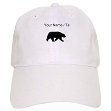 Custom Bear Walking Silhouette Baseball Baseball Cap