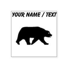 Custom Bear Walking Silhouette Sticker