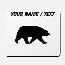 Custom Bear Walking Silhouette Mousepad